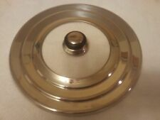 """Universal Pot/Pan Lid Fits 7-12"""" Replacement Stainless Steel W/Glass Insert"""