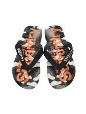 Superdry Mens AOP Flip Flop Beach Sandals Black