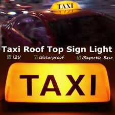 12V Taxi Roof Waterproof Sign Magnetic Taximeter Cab Top Lamp Light Yellow