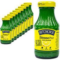 "Hitchcock - 10 x Zitronensaft ""Zitrone Pur"" 100% Direktsaft aus 6 Zitronen 0.2 L"