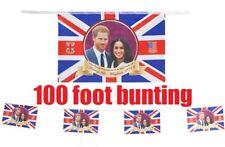 Royal Wedding PVC Bunting 2018 Prince Harry Meghan Markle Souvenir Party - 20ft