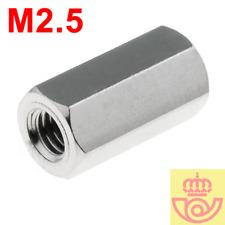 (lote 5pcs) Separador Hexagonal H-H de laton niquel M2.5 10mm (Arduino)