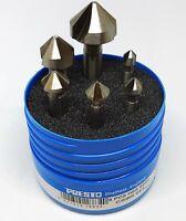 Presto 6pc 90º Countersink Set Inc: 6.3mm, 8.3mm, 10.4mm, 12.4mm, 16.5mm, 20.5mm