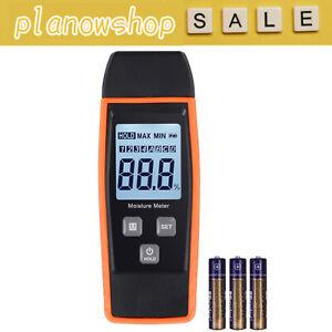LCD Digital Wood Moisture Meter Detector Firewood Damp Cement Mortar Tester UK