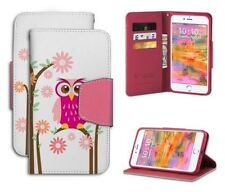Apple IPHONE 7 PLUS Infolio Daisy Owl Gel Cell Phone Case Wallet Card Holder