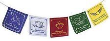 Namaste Flag String Mini Chakra Pennant Prayer Flags in English Wall Decor #PFMN