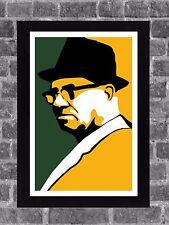 Green Bay Packers Vince Lombardi Portrait Sports Print Art 11x17