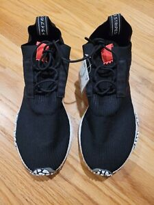 Adidas NMD_Racer Primeknit Shoes Alphatype Athletic Black-White - BB7041 - SZ 10