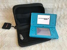 Nintendo DSi TWL-001 (USA) Blue Edition Tested & Working + Case, Stylus, SD Card