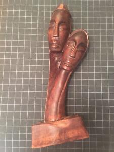 ORIGINAL FRANCOIS SANON HAITIAN ARTIST WOOD CARVED SCULPTURE VODOU VAUDOU VOODOO