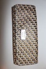 Nine West Silver Brown And Gold Clutch Wallet