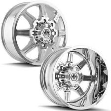 Set of 4-Mayhem 8101 Monstir Dually 17x6.5 8x210 Chrome Wheels Rims