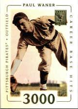2002 Tribute #71 Paul Waner Pittsburgh Pirates  BX T2B