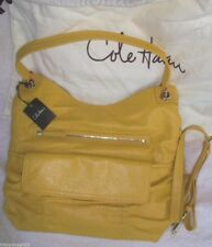 NWT Cole Haan Large Convertible Hobo Bailey SUNFLOWER Yellow Leather retail $348