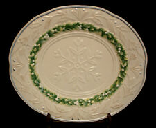 Winter Garden by Fitz & Floyd OVAL SERVING PLATTER 15 5/8""