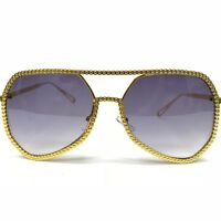 Aviator Oversized Luis The Party  Gold Metal Frame Designer Fashion Sunglasses