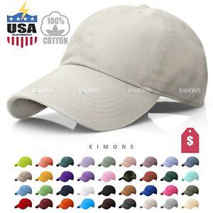 Cotton Baseball Cap Ball Dad Hat Adjustable Plain Solid Washed Men Washed PC