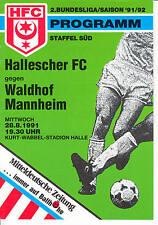 II. BL 91/92 Hallescher FC - SV Waldhof Mannheim, 28.08.1991