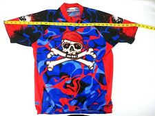 Gizmo Skull and Cross Bones Pirate Cycling Riding Bicycle Shirt Size Mens Large