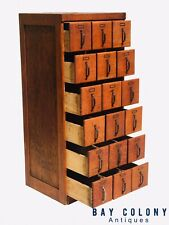 Early 20Th C Antique Arts & Crafts / Mission Oak Industrial Index File Cabinet