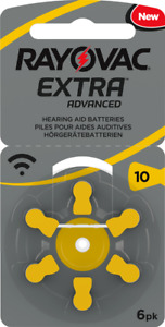 """NEW 2018 - Rayovac Extra """"Active Core"""" Hearing Aid Batteries, Size 10 (Yellow)"""