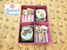 Trucks Cupcake Wrappers and Toppers 48 Cases and Picks Gift Set Cute