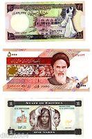 LOT ( 2 ) - 3 Billets DIFFERENTS PAYS AFRIQUE ASIE  NEUF UNC