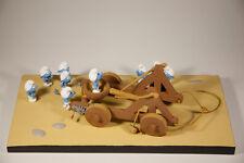 Les schtroumpfs smurfs-catapulte catapulte fariboles resin personnage set Nouveau (L)