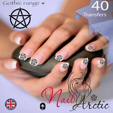 Gothic Pentagram Nail Water Transfers Decal Art Stickers x 40