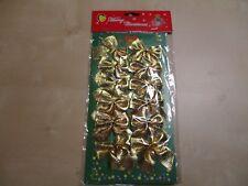 12 Deko Schleifen - Metallic gold  - Weihnachtsbaum - Adventskranz - Geschenke