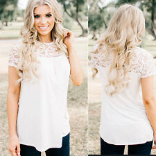 New Women Summer Lace Vest Top Blouse Casual Tank Tops T-Shirt