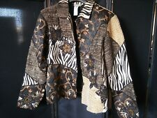 Coldwater Creek Beautiful Zebra Animal Print Leopard Women's Jacket Blazer