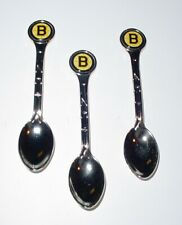 Vintage Original NHL Boston Bruins Collector Silver Spoon Set (3)