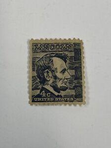 Abraham Lincoln 4 Cent Black Stamp Vintage Uncirculated