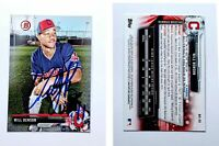Will Benson Signed 2017 Bowman Draft #BD56 Card Cleveland Indians Auto Autograph