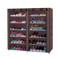6 Tier 36pair Portable Shoe Storage Organizer Wardrobe Rack Shelves Closet Cover