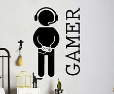 Gamer Wall Vinyl Decal Video Games Sticker Joystick Playroom ideas Art (7gm7r)