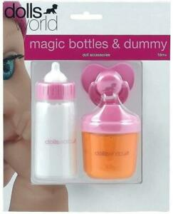 Dolls World Magic Bottles & Dummy Kids Girl Toy Accessory Fun