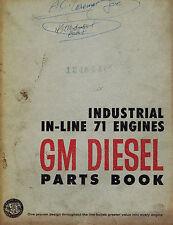 GM DIESEL INDUSTRIAL IN-LINE 71  ENGINES PARTS  MANUAL 1963