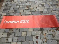 LONDON Paralympic Olympics 2012 Flag Sign Banner Olympic Memorabilia Red orange
