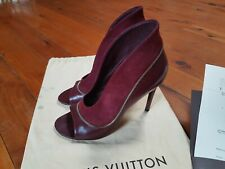 LOUIS VUITTON Perfecto Open Toe Sandals High Heels Shoes Size 37 RP $1330.00