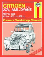 0196 Haynes Citroën 2CV, Ami and Dyane (1967 - 1990) up to H Workshop Manual