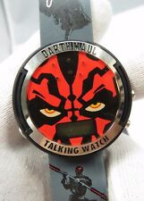 "STAR WARS Episode 1, Darth Maul Talking ""Ultra Rare"" Mens/Boys Watch NIB R16-06"