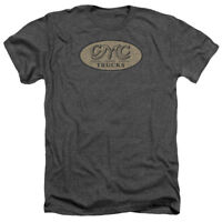 GMC VINTAGE OVAL LOGO Licensed Adult Heather T-Shirt All Sizes