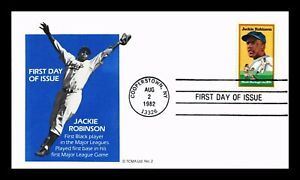 DR JIM STAMPS US JACKIE ROBINSON BLACK HERITAGE BASEBALL UNSEALED FDC COVER