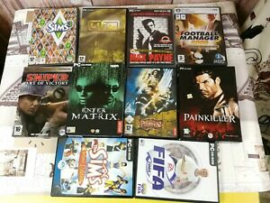 X10 PC unique popular GAMES SET/ THE SIMS 3/UFO AFTERMATH/SID MELERS/ painkiller