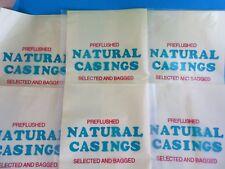 TEN FULL HANKS for 1200+ Lbs of  Sausage  NATURAL Hog Casings DEER HUNTERS