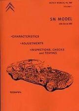 CITROEN SM Shop Manuel Catalogue livre manuel papier