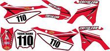 2013-2018 HONDA CRF110 Complete Graphics Kit - Red Arrow Design - CRF110.com