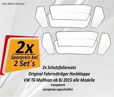 2x Schutzfolie Sparset Fahrradträger Radträger Heckträger VW Bus Bully T6 Set